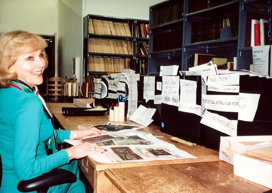 Lillian at her workspace | Courtesy of Adama Films/ Zeitgeist Films