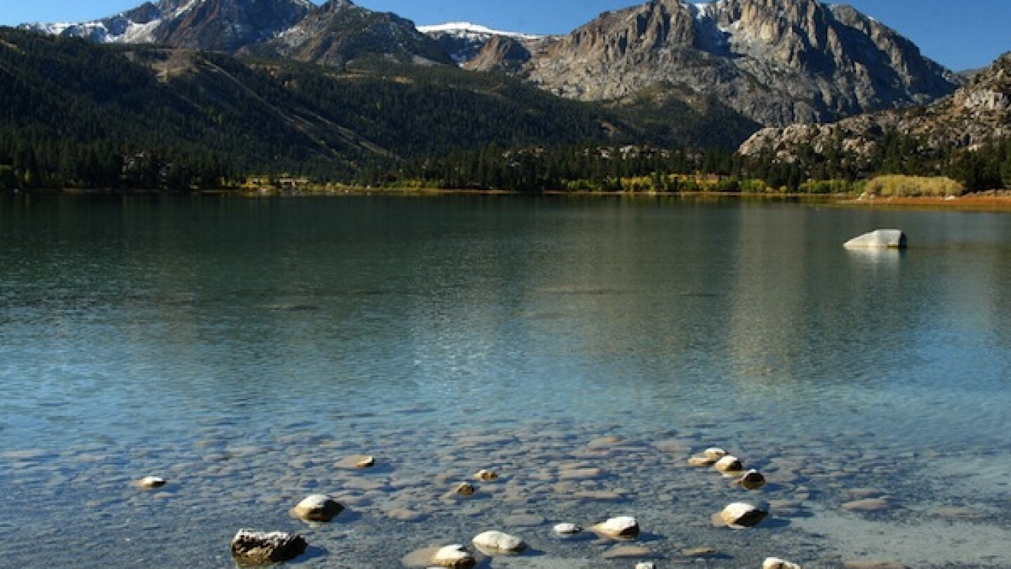 June Lake, where campgrounds are expected to be open by this weekend.
