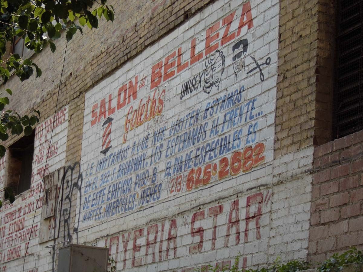A ghost sign of Goleth's Beauty Salon, which is still in operation. | Sandi Hemmerlein