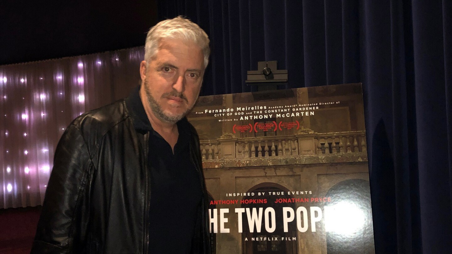 Screenwriter Anthony McCarten arrives at the ArcLight Cinemas Sherman Oaks for The Two Popes screening at the KCET Cinema Series
