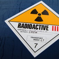 Sign labeling spent fuel shipment | Photo: IAEA