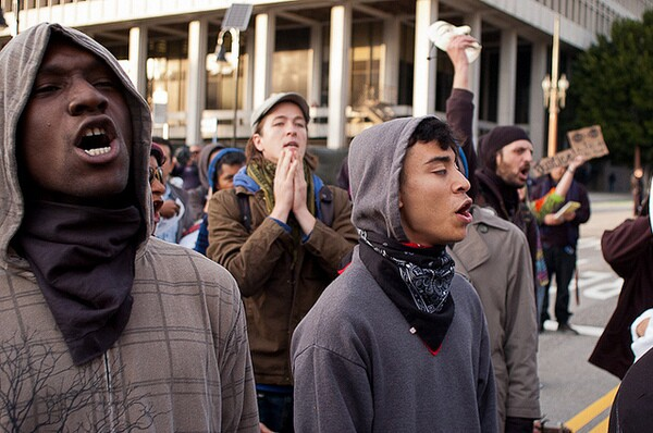 A Trayvon Martin protest in March 2012.
