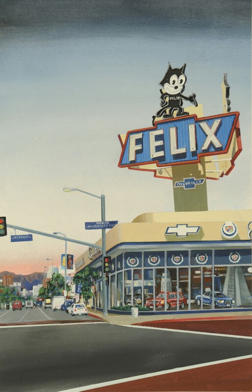 Felix by Barbara A. Thomason, cel vinyl on illustration board (2007)
