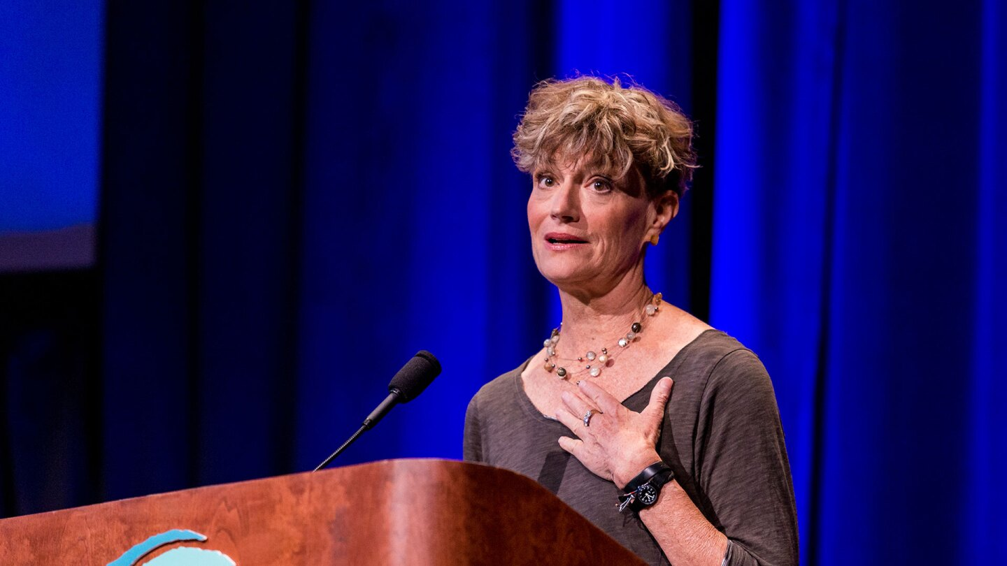 Ashton Applewhite speaking at Bioneers Conference 2018