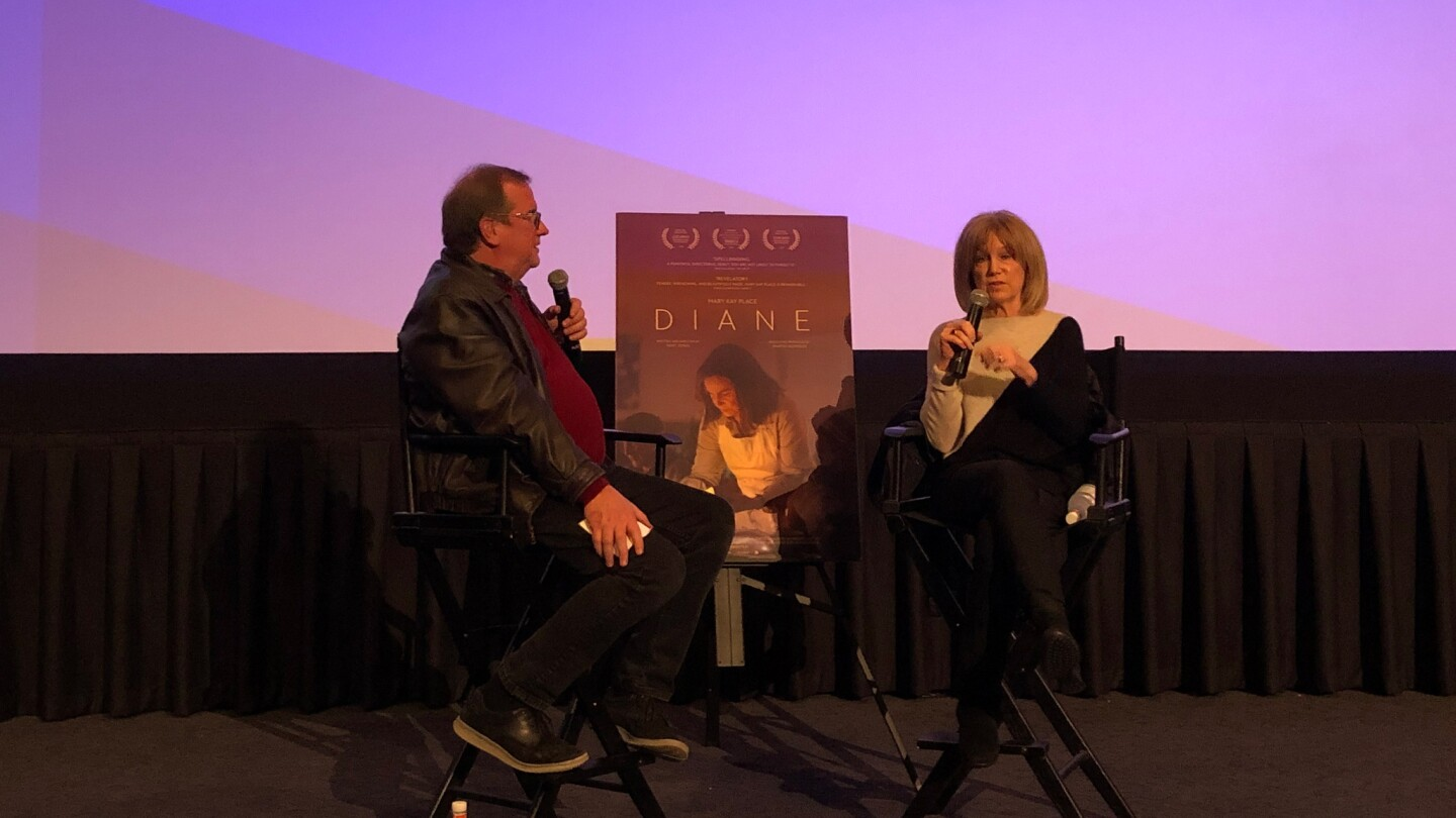 """Cinema Series host Pete Hammond and Actor Mary Kay Place participate in a Q&A discussion after a screening of """"Diane"""""""