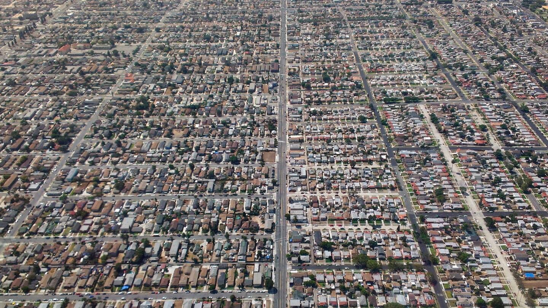 South Los Angeles Normandie Avenue Aerial