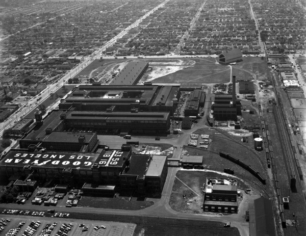 Goodyear Tire & Rubber Co., 1957 | Kelly-Holiday Collection of Negatives and Photographs, Los Angeles Public Library