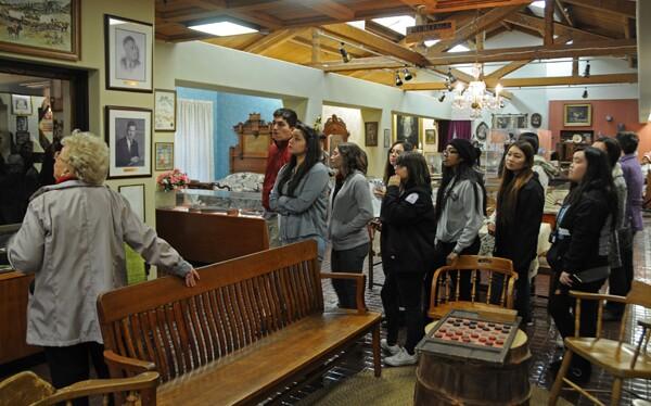 Students tour the El Monte Museum