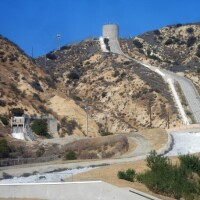 The Los Angeles Aqueduct cascades in Sylmar.