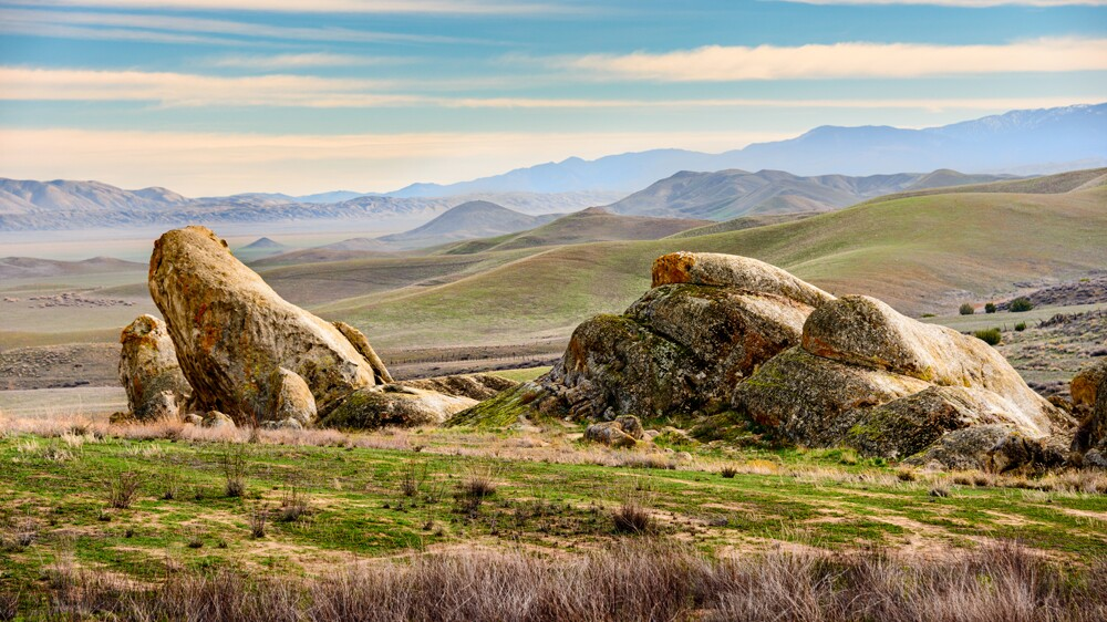 A rocky vantage point with Soda Lake in the distance   Photo: zrfphoto/iStockPhoto