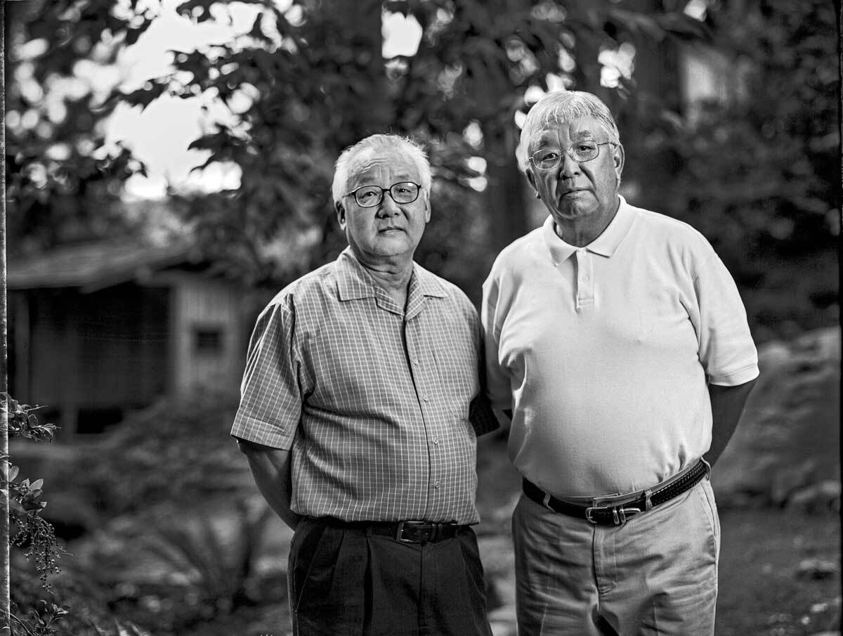 Jerry Aso, 67, and his brother Bill Asano, 70, right, are both dental professionals.   Paul Kitakagi, Jr.