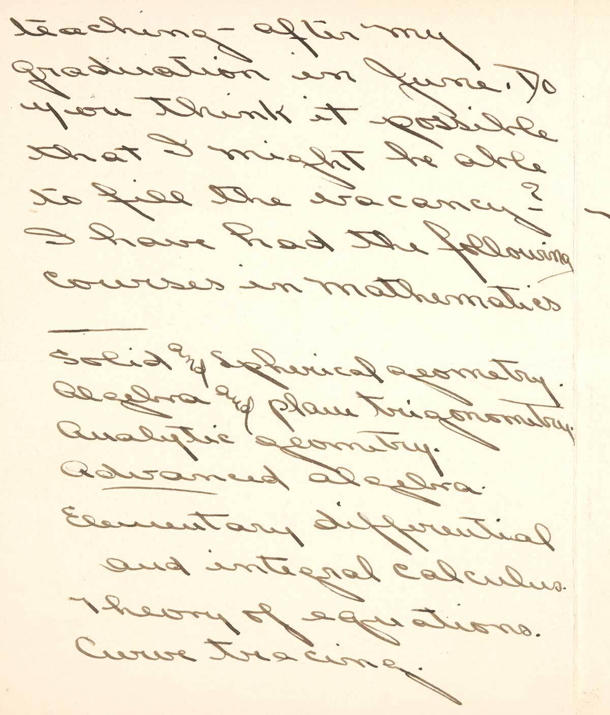 Letter to F.H. Seares of Mt. Wilson observatory from Ruth Barnett p2 | Image courtesy of the Observatories of the Carnegie Institution for Science Collection at the Huntington Library, San Marino, California