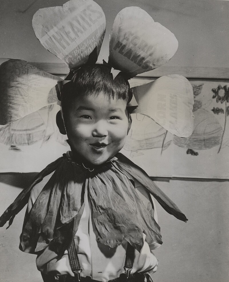 Bobby Kaneko, aged four, all dressed up for a parade. | Francis Stewart, courtesy of Japanese American National Museum (Identifier 2015.100.413a) ABs10 MMD
