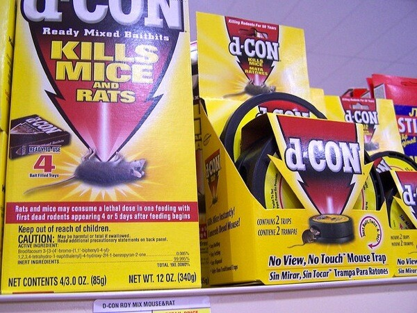 Rat poison and trap products from Reckitt Benckiser.