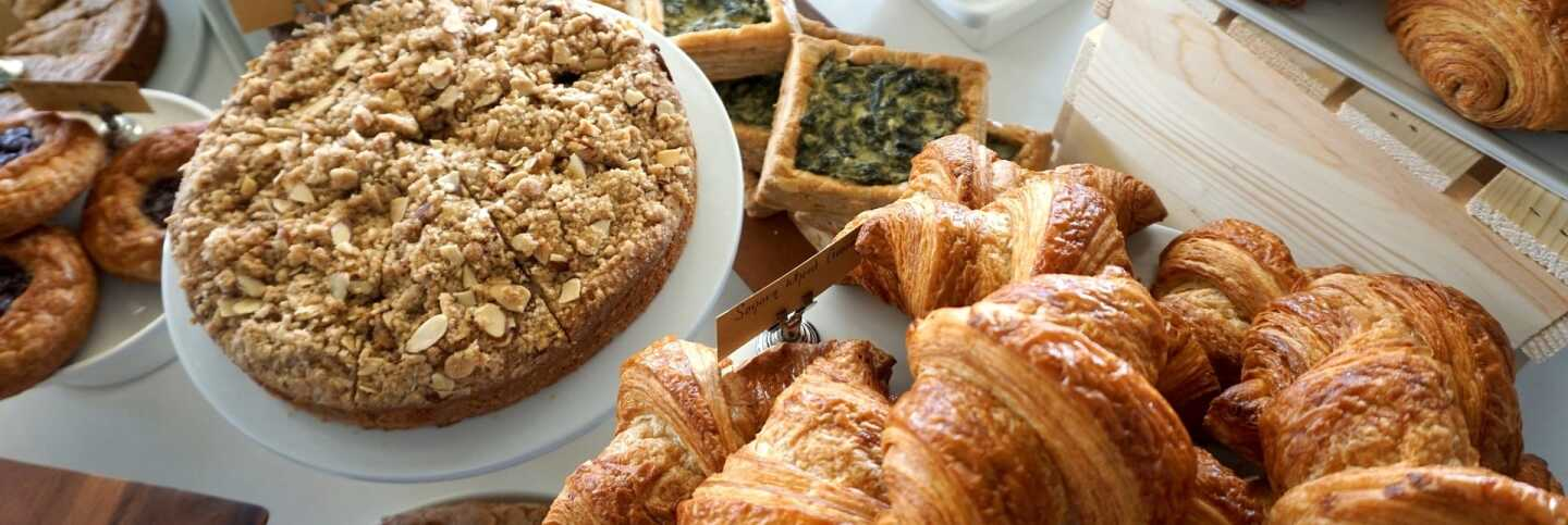 The pastry case at Friends & Family | Jules Exum