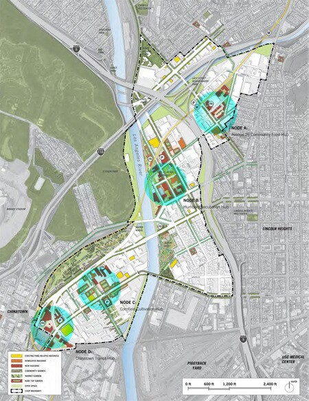 The 4 'Nodes' of the CASP urban agriculture hub