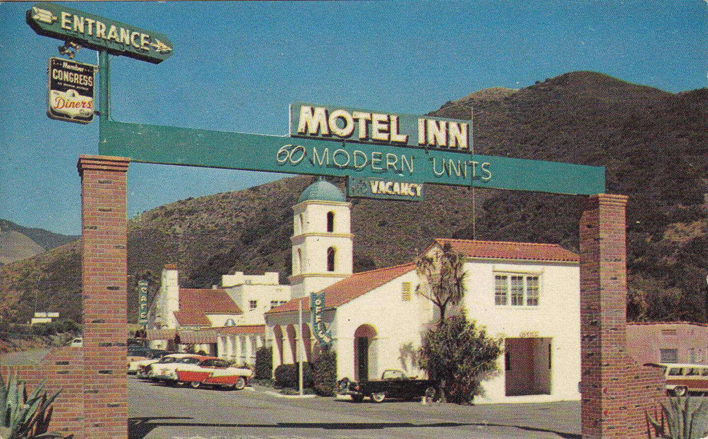"The Motel Inn in San Luis Obispo boasted ""60 modern units"" plus other amenities, during its mid-century heyday."