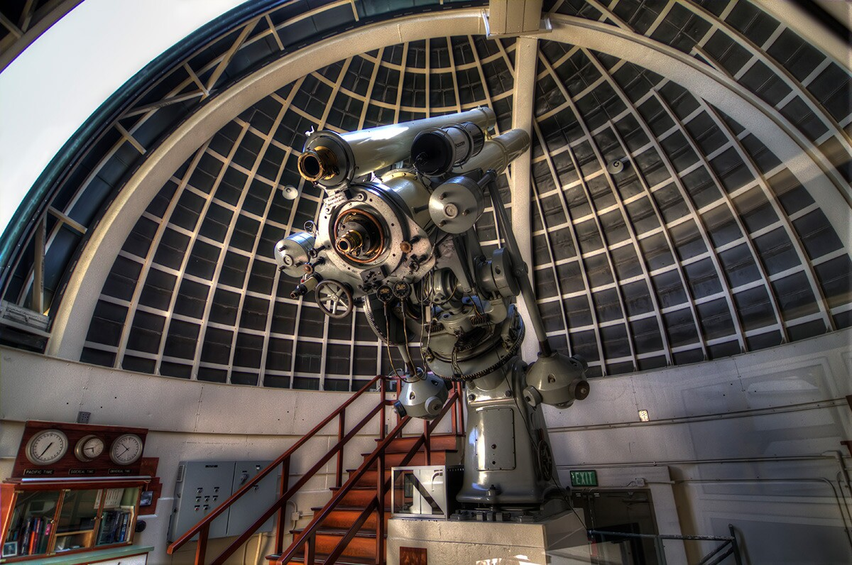 Griffith Observatory's 12-inch Zeiss refracting telescope. | Flickr/mike appel/Creative Commons (CC BY-NC-ND 2.0)