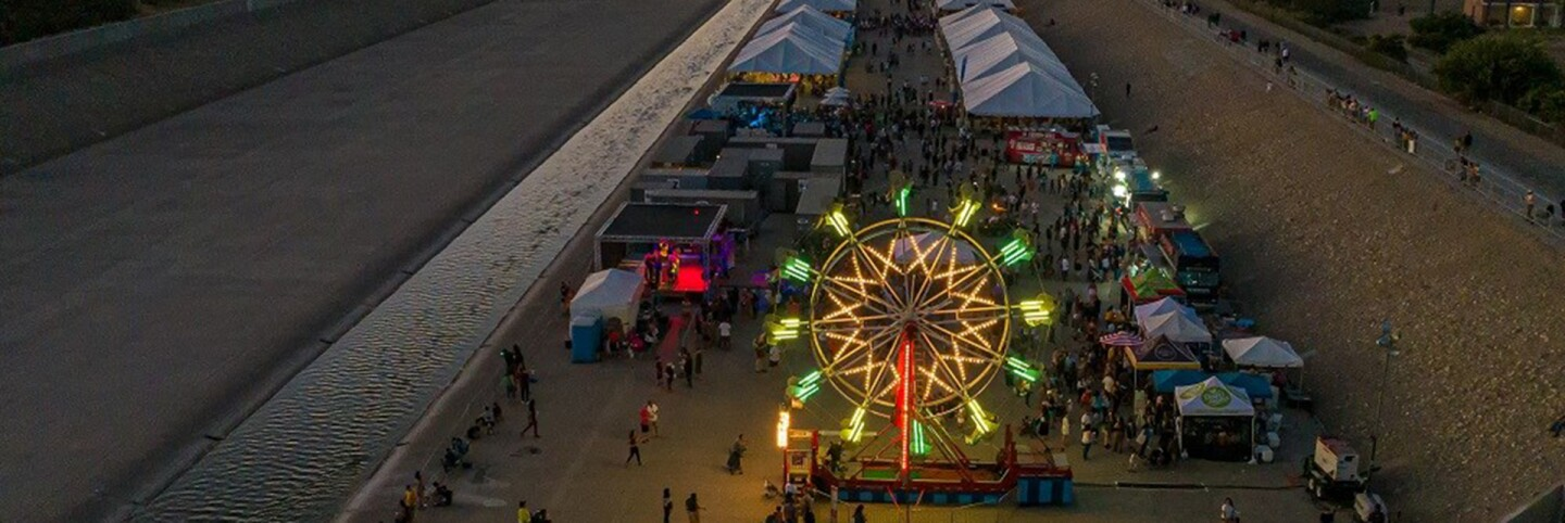The SELA Arts Festival in July 2019 was held inside L.A. River bed. | L.A. County Public Works