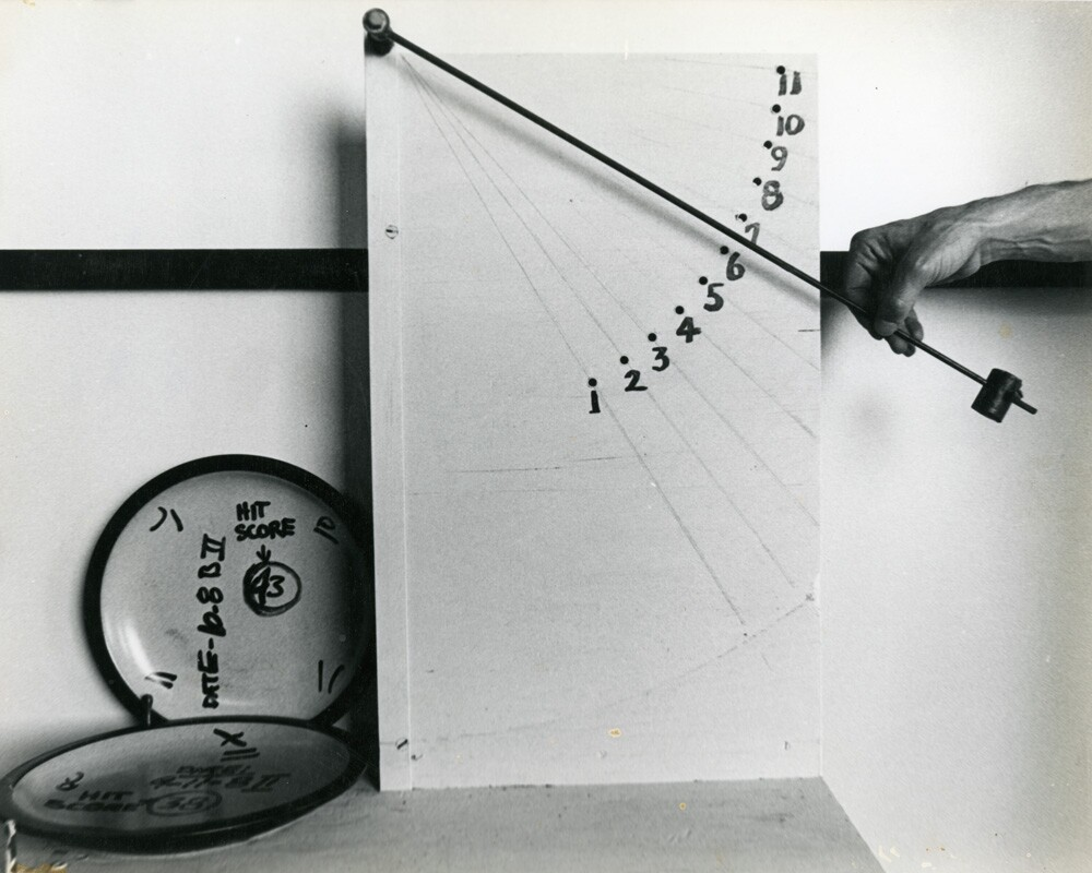 Clay tests and hit scores | Courtesy of the Environmental Design Archives at UC Berkeley