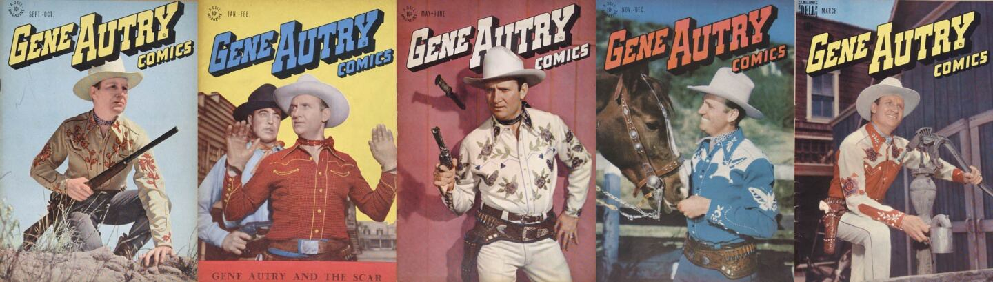 Gene Autry comic books featured him in his many outfits | Courtesy of the Autry Museum of the American West