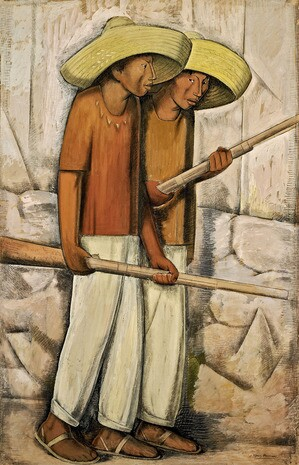 Alfredo Ramos Martínez, Rurales I Men of the Countryside (1935) I © Alfredo Ramos Martinez Research Project