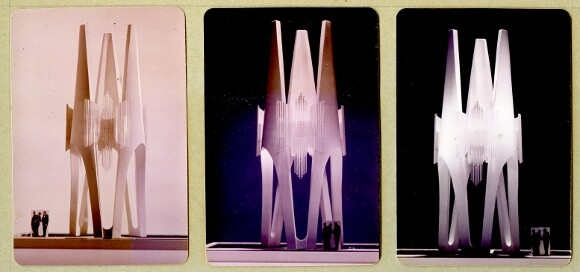 Model rendering for the Triforium. | Image: ©Joseph L. Young, courtesy of the Estate of Joseph L. Young.