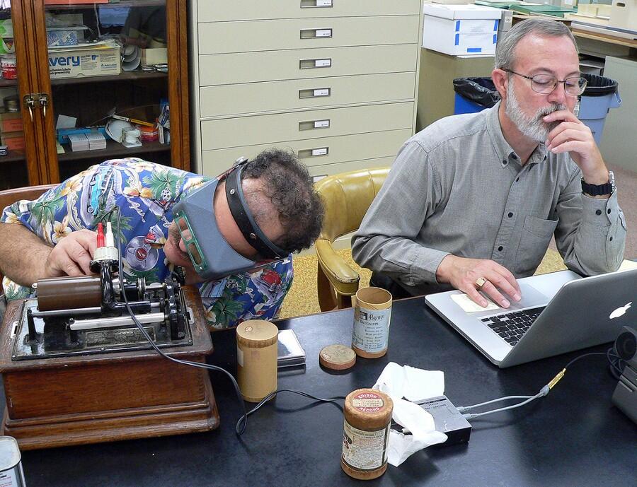 Digitizing Charles Lummis' wax cylinder recordings