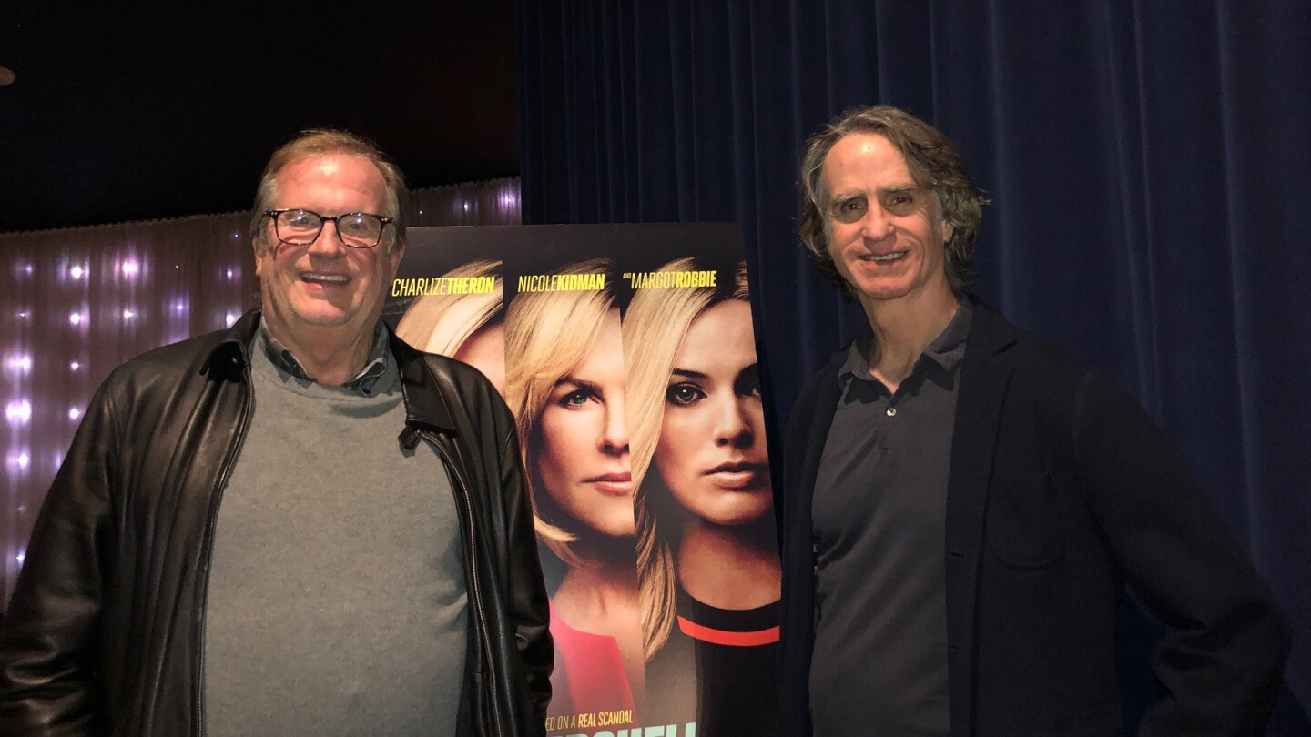 Jay Roach and Pete Hammond at the preview screening of Bombshell.