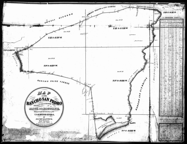 Survey of Rancho San Pedro