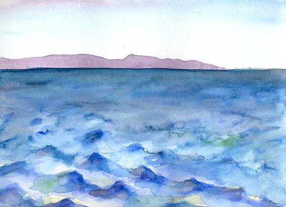 Watercolor | Hillary Mushkin.