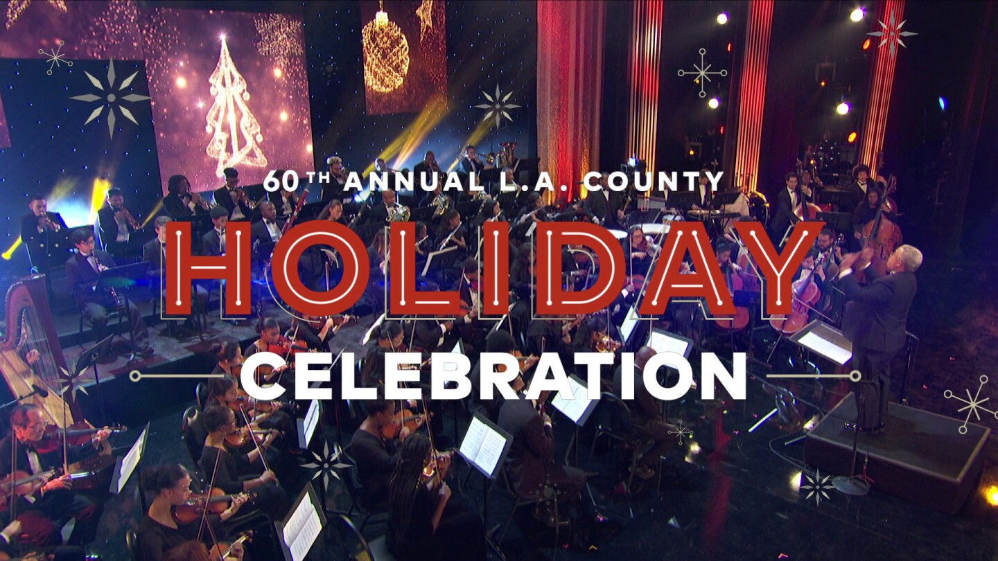 """Title card for """"The 60th Annual L.A. County Holiday Celebration."""""""