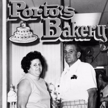 Rosa and Raul Porto at the original Porto's Bakery | Courtesy of Porto's