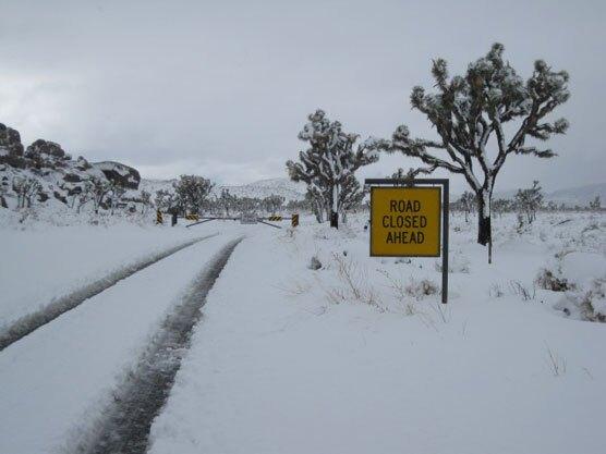 Recent road closure in Joshua tree NP | NPS/Dan Messaros photo