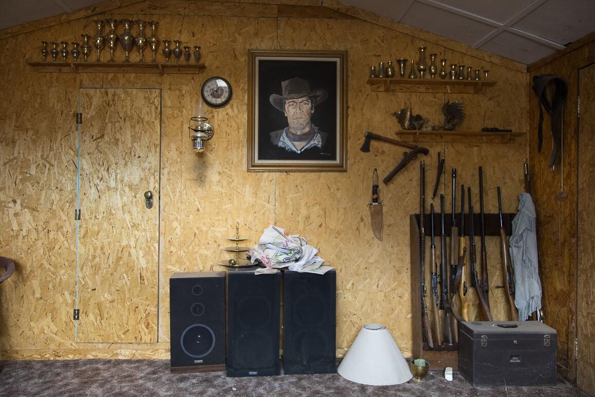 A corner of the Brannigan home in Darwin, California