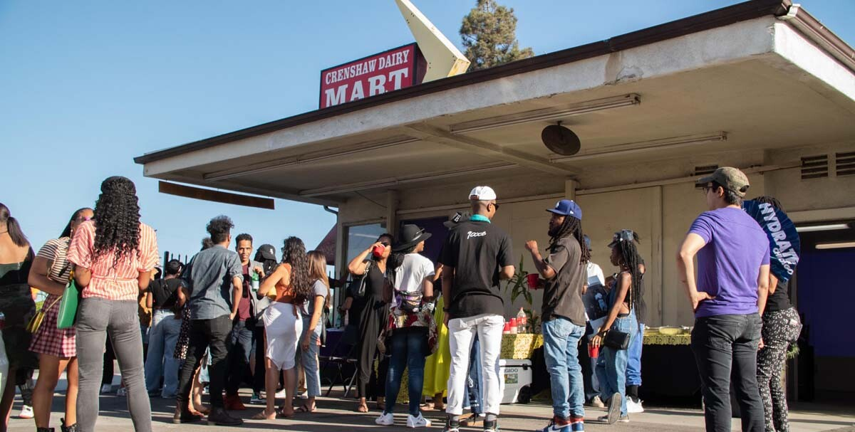 People gather at the Crenshaw Dairy Mart   Courtesy of Crenshaw Dairy Mart
