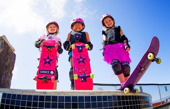 Bella, Relz and Sierra of the Pink Helmet Posse, courtesy of the Pink Helmet Posse.