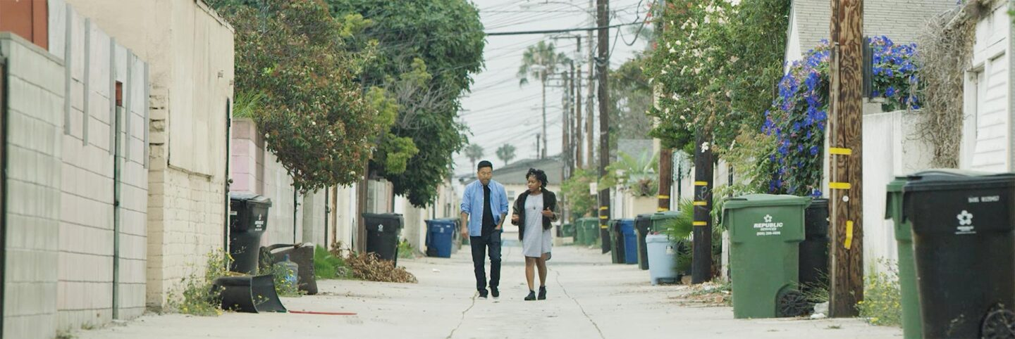 "Roy Choi walking with Olympia Auset | Still from ""Broken Bread"""