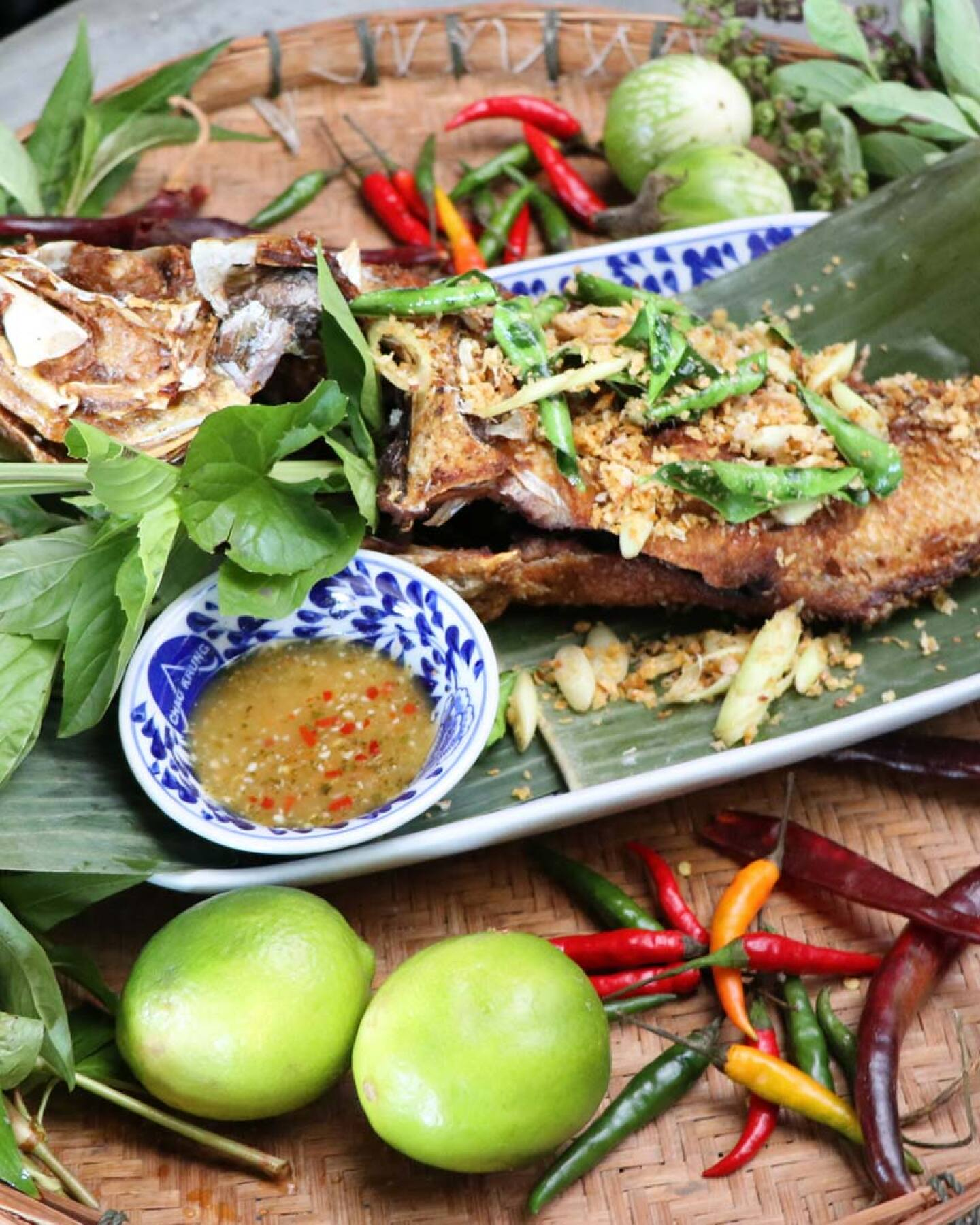 Pla Gra-taem (Garlic Fish) from Chao Krung | Courtesy of Chao Krung