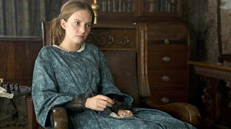 """Maya Hawke as Jo March in """"Little Women On Masterpiece."""""""