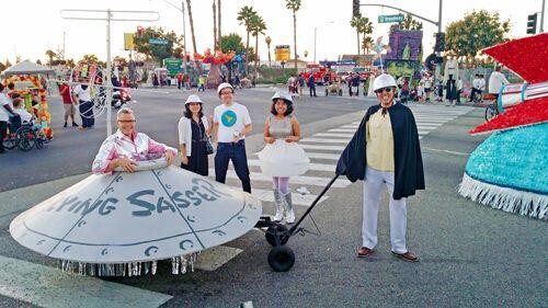 """""""Flying Sasser"""" replica with Charles Phoenix, 2014. 