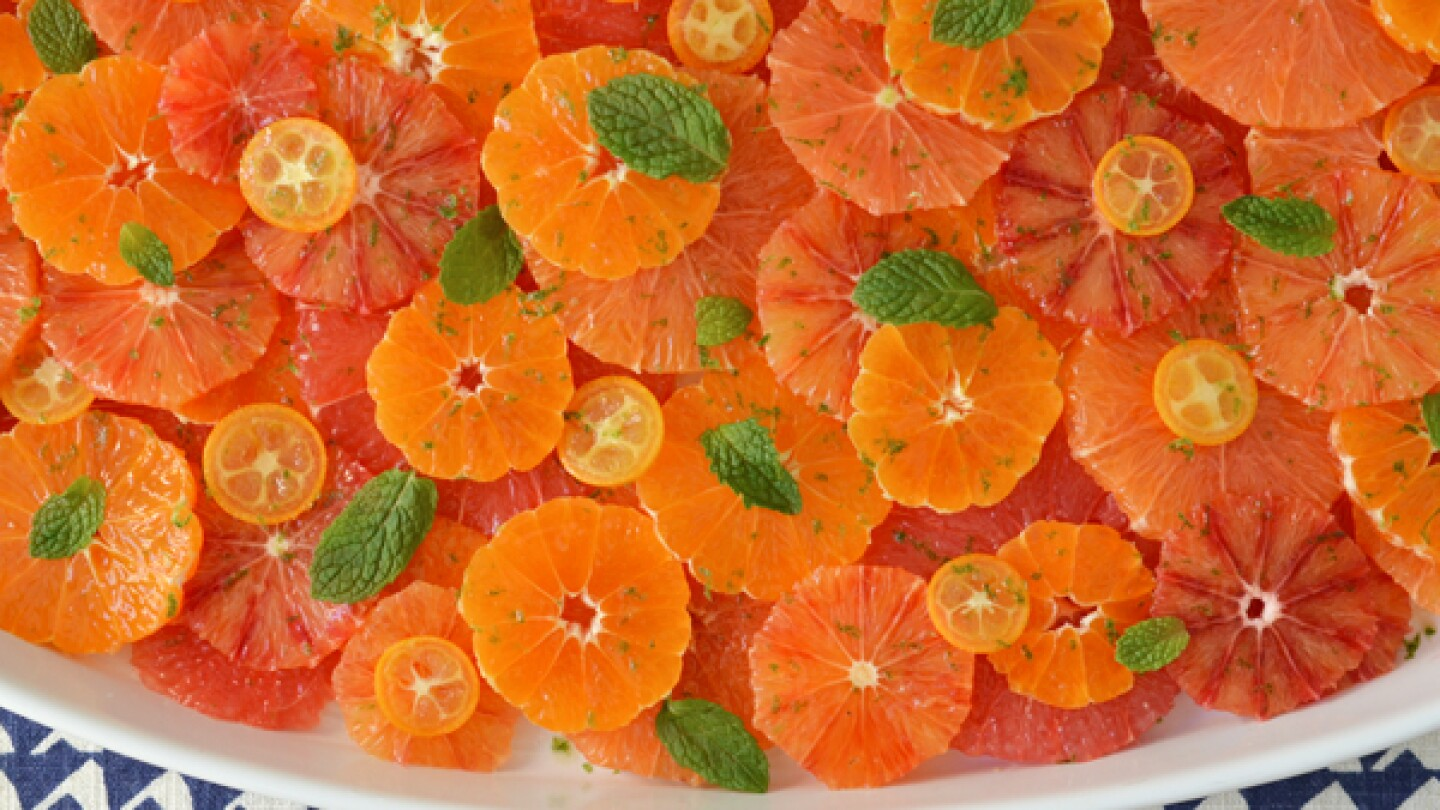 Citrus Salad with Ginger Honey