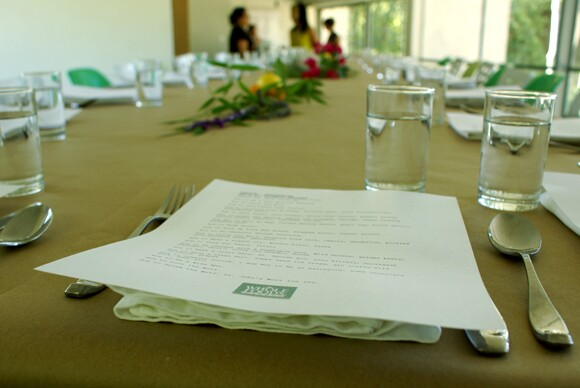 Artists+Institutions Summer Salon Series, 2012. Table setting by Notch. Photo Courtesy Mak Center