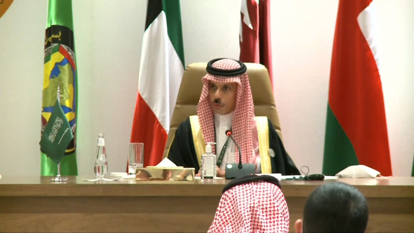 The Saudi foreign minister declares restored diplomatic ties with Qatar.