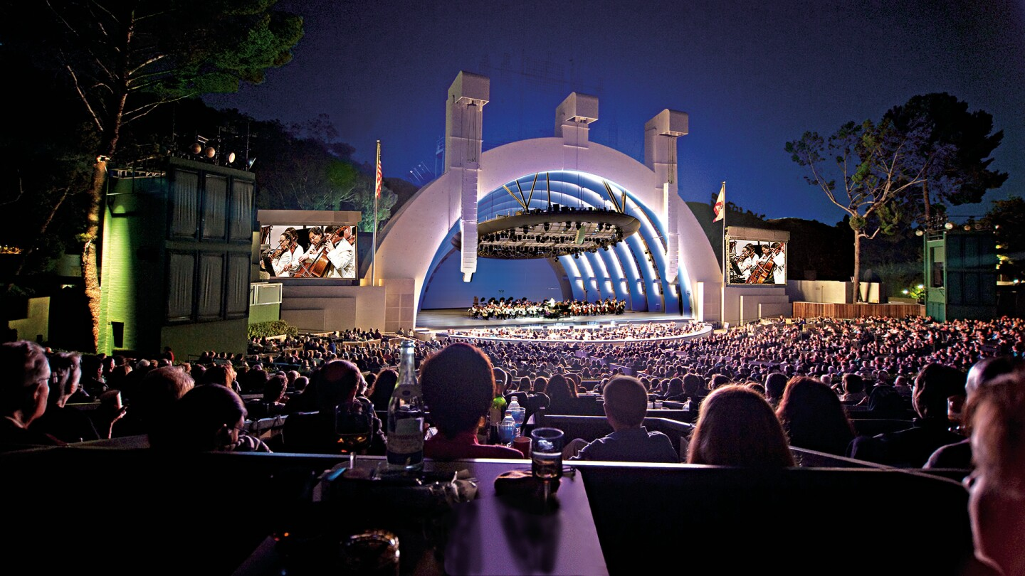 Hollywood Bowl shell with orchestra on stage. Taken on August 15, 2009. | Adam Latham