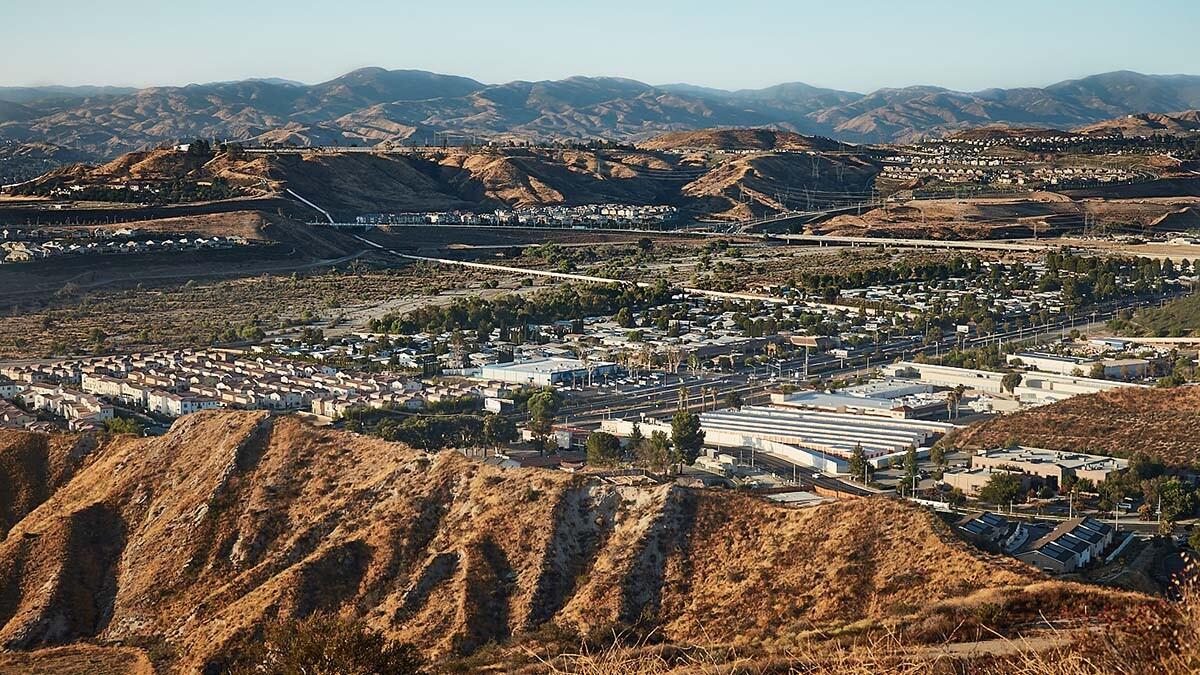 View of Santa Clarita from Atop Whittaker-Bermite Site – Santa Clarita, CA – 2017 | Osceola Refetoff