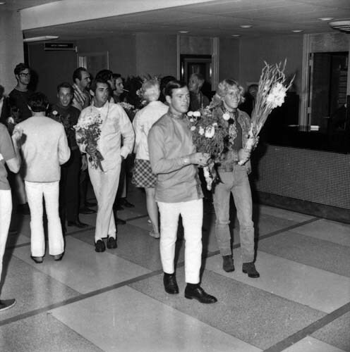 """The """"Flower power militia"""" at the LAPD station"""