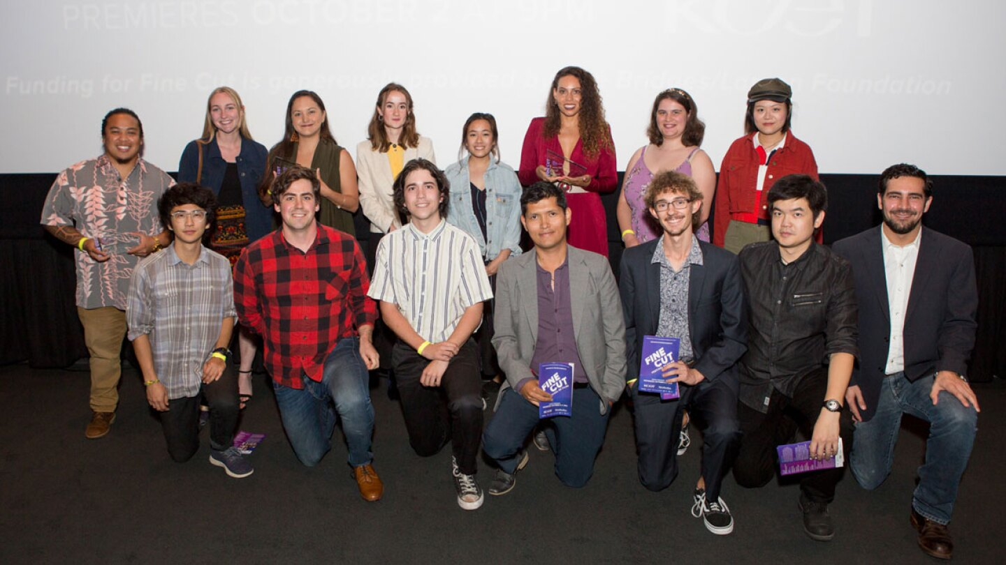 Student filmmaker semi-finalists at KCET's FINE CUT Festival of Films at the Landmark Theatre on September 26, 2019.
