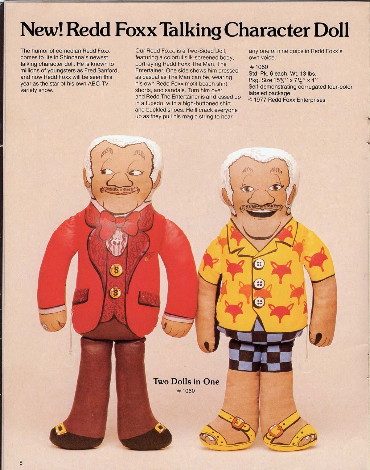 The Redd Foxx Talking Character Doll was modeled after Fred Sanford   Courtesy of Billie Green