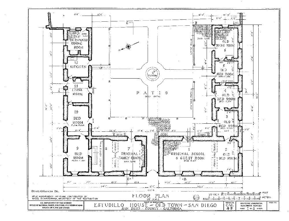 La Casa De Estudillo Floor Plan
